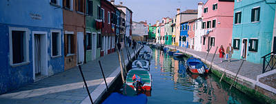 Houses Along A Canal, Burano, Italy Art Print by Panoramic Images