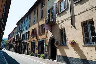 Baskets Photograph - Houses Along A Street, Cernobbio, Como by Panoramic Images