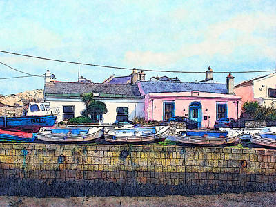 Painting - Houses And Boats On Howth by Miki De Goodaboom