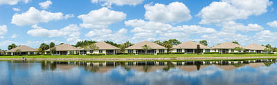 Houses Around Small Lake In North Port Print by Panoramic Images