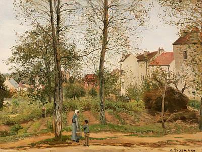 Houses At Bougival Art Print