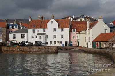 Houses At Pittenweem Harbor Art Print
