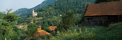 Romania Photograph - Houses At The Hillside, Transylvania by Panoramic Images