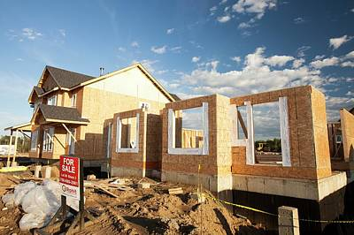 Expensive Photograph - Houses Being Built by Ashley Cooper