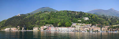 Lake Garda Photograph - Houses In A Town At The Waterfront by Panoramic Images