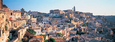 Basilicata Photograph - Houses In A Town, Matera, Basilicata by Panoramic Images