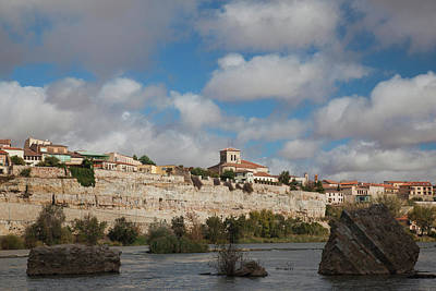 Zamora Photograph - Houses In A Town On A Hill, Douro by Panoramic Images