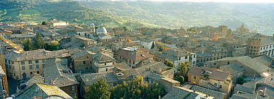 Rooftop Photograph - Houses In A Town, Orvieto, Umbria, Italy by Panoramic Images