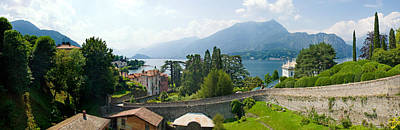 Houses In A Town, Villa Melzi, Lake Print by Panoramic Images