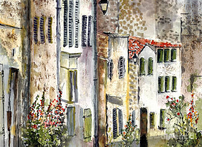 Houses In La Rochelle France Art Print