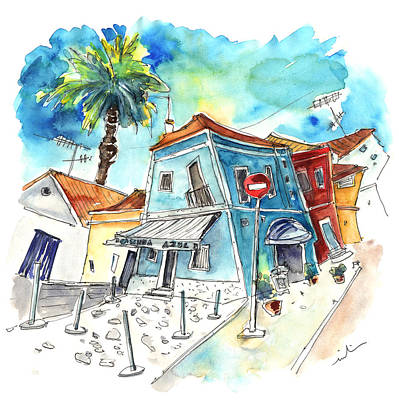 House Art Drawing - Houses In Moita In Portugal by Miki De Goodaboom