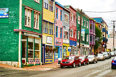 Photograph - Houses In St. Johns In Newfoundland by Les Palenik