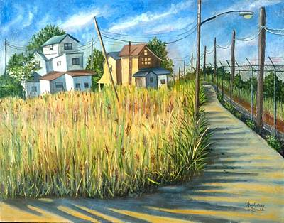 Houses In The Weeds Art Print