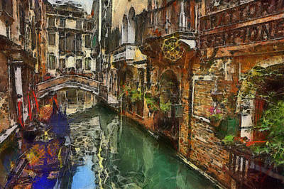 Painting - Houses In Venice Italy by Georgi Dimitrov