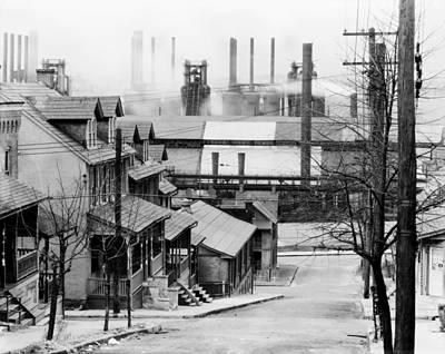 Houses Near Bethlehem Steel Company 1940s Art Print by Mountain Dreams