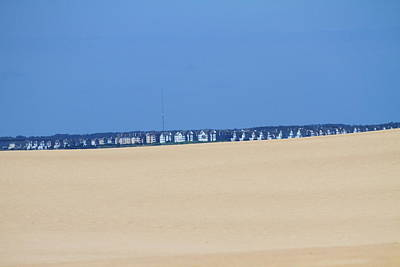 Sand Dunes Photograph - Houses Off Jockey's Ridge by Cathy Lindsey
