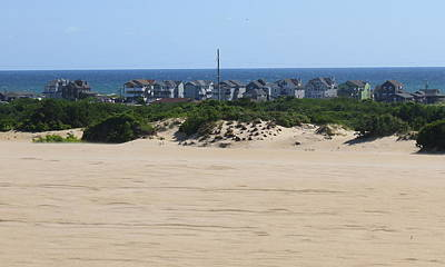 Wooden Photograph - Houses Off Jockey's Ridge 7 by Cathy Lindsey
