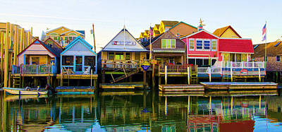 Houses On Cape May Harbor Art Print by Bill Cannon