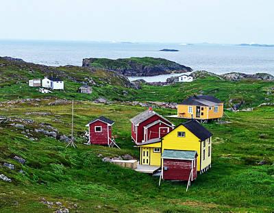 Photograph - Houses On Little Fogo Island Newfoundland by Lisa Phillips