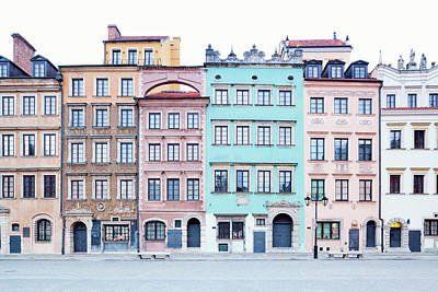 Houses On Old Town Market Place Art Print by Jorg Greuel