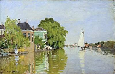 Houses On The Achterzaan Art Print by Claude Monet