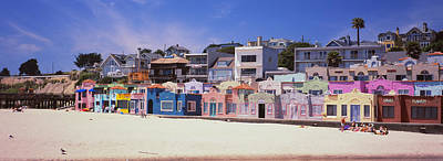 Houses On The Beach, Capitola, Santa Art Print by Panoramic Images