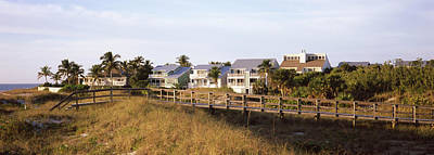 Florida Bridge Photograph - Houses On The Beach, Gasparilla Island by Panoramic Images