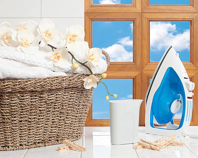 Washing Clothes Photograph - Housework Concept by Amanda Elwell