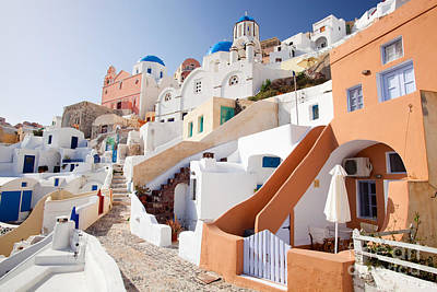 Housing Of Santorini Art Print by Aiolos Greek Collections