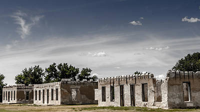 Photograph - Housing Ruins At Fort Laramie by Debra Martz