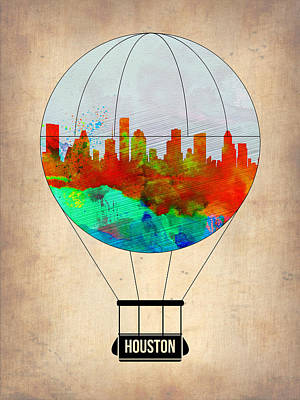Houston Air Balloon Art Print by Naxart Studio