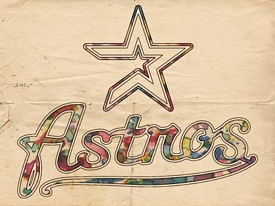 Bat Painting - Houston Astros Poster Art by Florian Rodarte