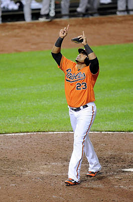 Photograph - Houston Astros V Baltimore Orioles by Greg Fiume