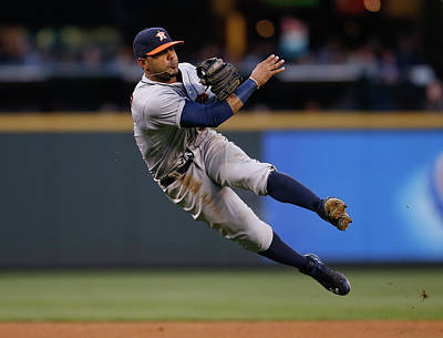 Photograph - Houston Astros V Seattle Mariners by Otto Greule Jr