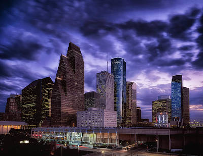 Modern Lighting Photograph - Houston At Twilight by Mountain Dreams