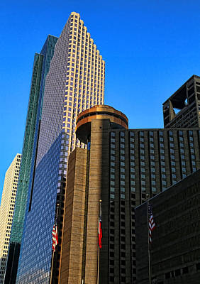 Photograph - Houston Buildings by Judy Vincent