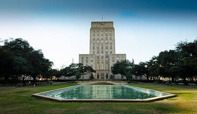Reflection Photograph - Houston City Hall by David Morefield