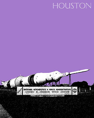 Giclee Digital Art - Houston Johnson Space Center - Violet by DB Artist