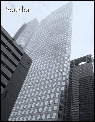 Photograph - Houston Monoliths With Border by Tony Grider