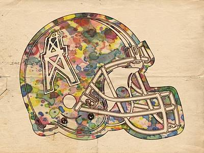 Painting - Houston Oilers Helmet Art by Florian Rodarte