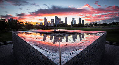 Photograph - Houston Police Memorial by Chris Multop