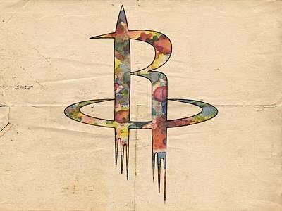Painting - Houston Rockets Logo Art by Florian Rodarte