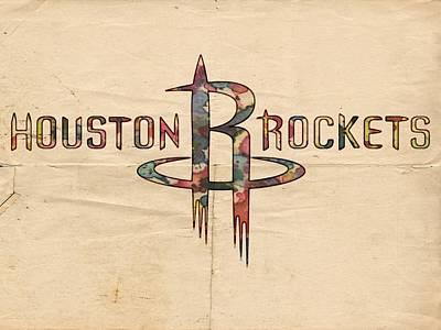 Painting - Houston Rockets Poster Art by Florian Rodarte
