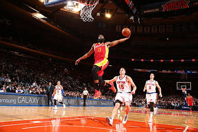 Photograph - Houston Rockets V New York Knicks by Nathaniel S. Butler