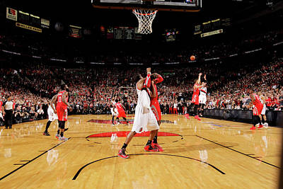 Photograph - Houston Rockets V Portland Trail Blazers by Cameron Browne