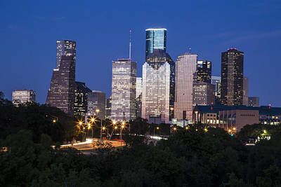 Photograph - Houston Skyline At Sunset  by John McGraw