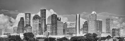 Houston Skyline Images And Prints - Panorama Of Downtown Houston Art Print by Rob Greebon