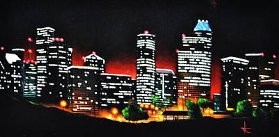 Houston Skyline Art Print by Thomas Kolendra