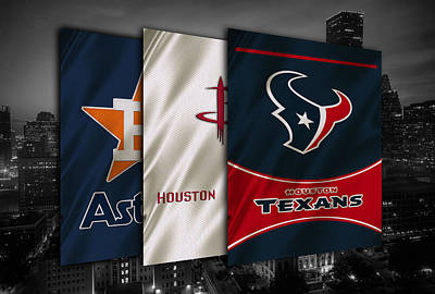 Houston Sports Teams Print by Joe Hamilton