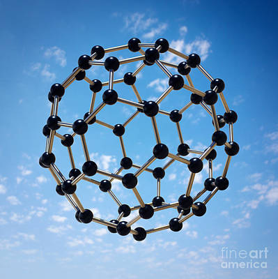 Molecular Biology Digital Art - Hovering Molecule by Carlos Caetano
